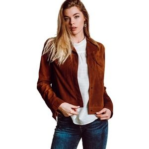 Vince Suede Leather Moto Jacket